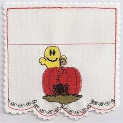 Ghost & Pumpkin embroidery design