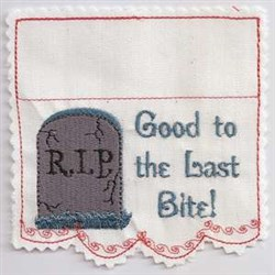 RIP Tombstone embroidery design