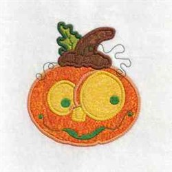 Pumpkin Applique embroidery design
