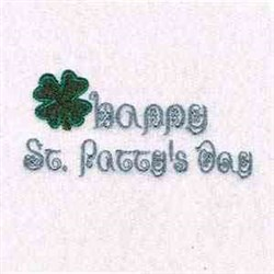 St Pattys Day embroidery design