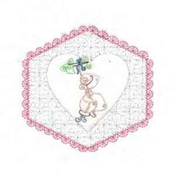 Heart Floral Girl   embroidery design