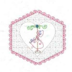 Floral Girl   embroidery design