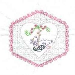Swinging Girl embroidery design