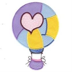 Love Hot Air Balloon embroidery design