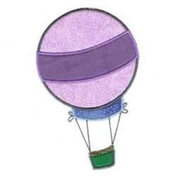Stripe Hot Air Balloon embroidery design