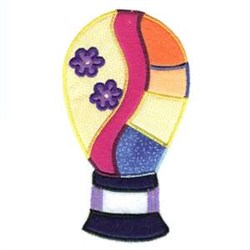 Hot Air Balloon Floral embroidery design