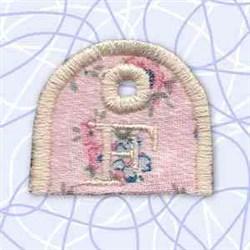 Alphabet Tag F embroidery design