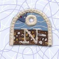 Alphabet Tag N embroidery design