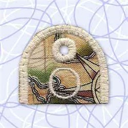 Alphabet Tag O embroidery design