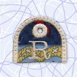 Alphabet Tag R embroidery design