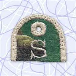 Alphabet Tag S embroidery design
