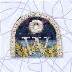 Alphabet Tag W embroidery design