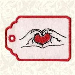 Valentine Tag embroidery design