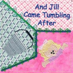 Tumbling After embroidery design