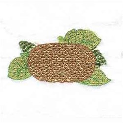Lacy Leaves Pumpkin embroidery design