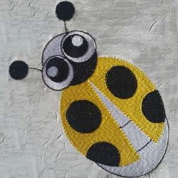 Yellow Lady Bug embroidery design