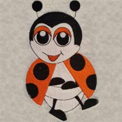 Happy Lady Bug embroidery design