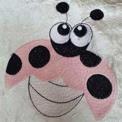 Funny Lady Bug embroidery design