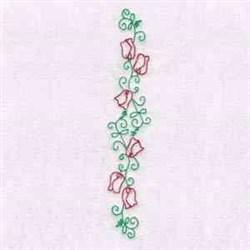Border Tulip  embroidery design