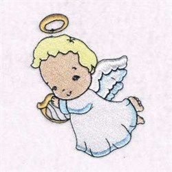 Cute Baby Angel embroidery design