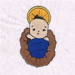 Baby Jesus Savior Born embroidery design