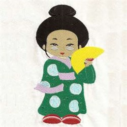 Geisha Girl embroidery design