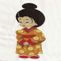 I Love Geisha Girls embroidery design