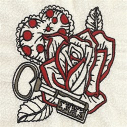 Key To My Heart embroidery design