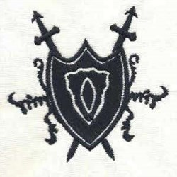 Medieval Heraldic Shied embroidery design