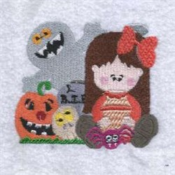 Spooky Halloween embroidery design