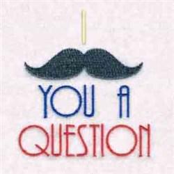 Respect The Mustache embroidery design