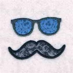 Sunglasses & Mustache embroidery design
