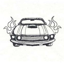 Muscle Car Mania embroidery design