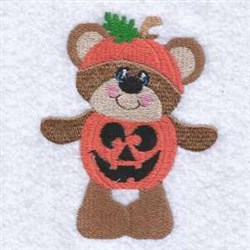 Halloween Jack O Teddy embroidery design