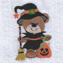 Halloween Witch Teddy embroidery design