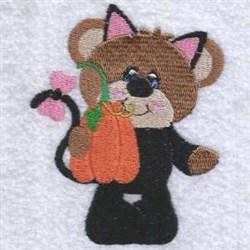 Halloween Cat Teddy embroidery design