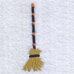 Haloween Witchs Broom embroidery design