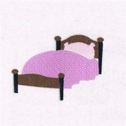 Nursery Bed embroidery design