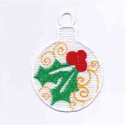 XMas Holly Ornament embroidery design