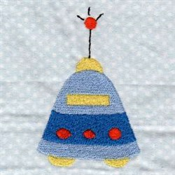 Outer Space UFO embroidery design