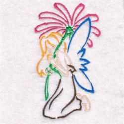 Fairy With Flower embroidery design