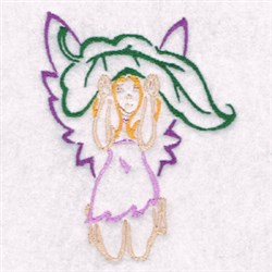 Fairy With A Leaf embroidery design