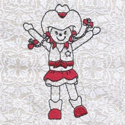 Happy Cowgirl embroidery design