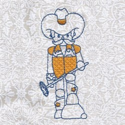 Country Cowboy embroidery design
