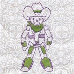 Texan Cowboy embroidery design