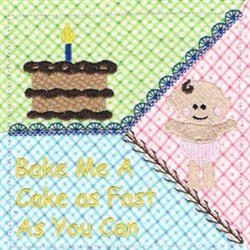 Pat-A-Cake Rhyme embroidery design