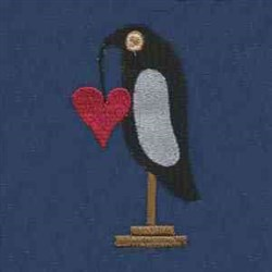 Be My Valentine Penguin embroidery design