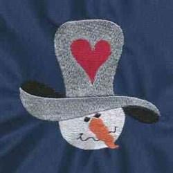 Valentine Snowman embroidery design