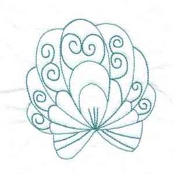 Shell Bluework embroidery design