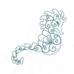 Bluework Seahorse embroidery design